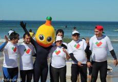Pirilampo Mágico a surfar em Matosinhos